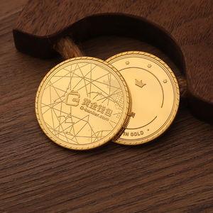hot sale small metal gold token game coins