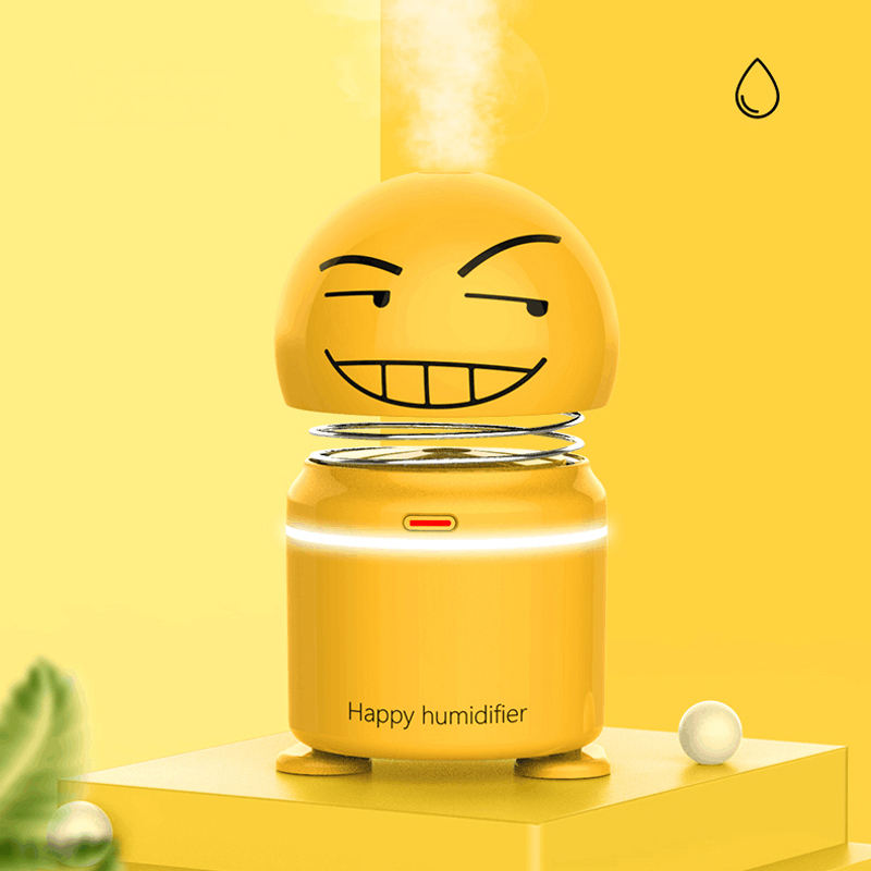 2020 New young living humidifier Ornaments for Car Humidifier Emotional smile face air humidifier mini for Home and office