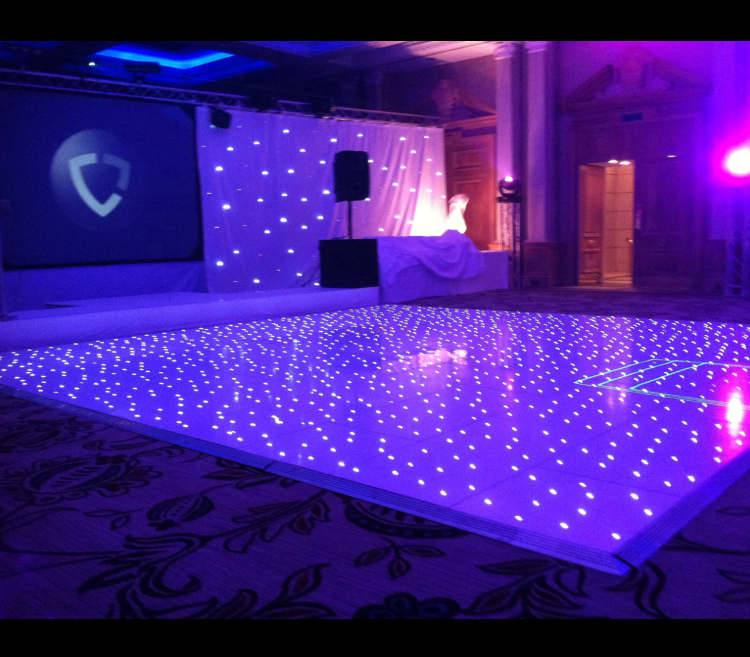 New design magic RGB Tri-color or white magnetically connected wireless remote starlight Led Dance Floor for wedding party
