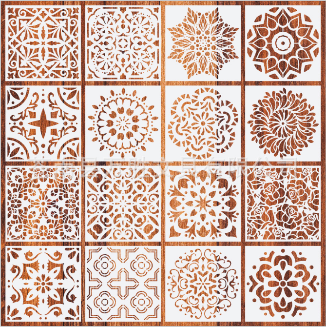 2020 NEW 32pcs Laser Cut Mandala Painting Drawing Stencils Perfect for Floor Wall Tile Fabric Furniture