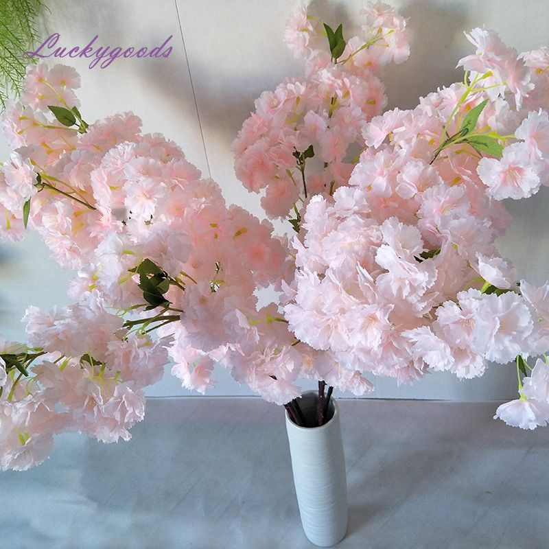 LG20190606-5 Factory direct wholesale multi-headed simulation flower light pink elegant wedding cherry blossom