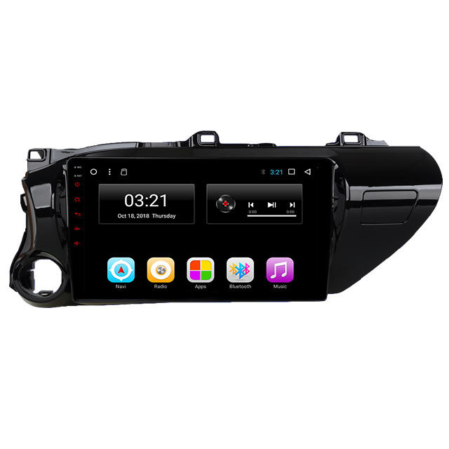Android 1din 2din Auto Radio Voor Toyota Hilux 2018 Touch Screen Auto Radio Gps Navigatie Bt Car Audio