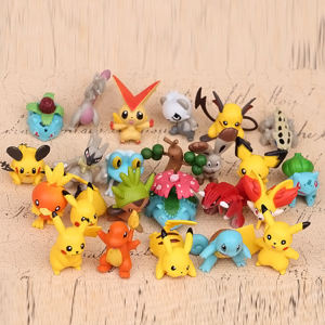 Custom 24 Stijlen Mini 3D Levensgrote Japanse Pokemon Beeldje Anime Pvc Action Model Pop Figuur Speelgoed