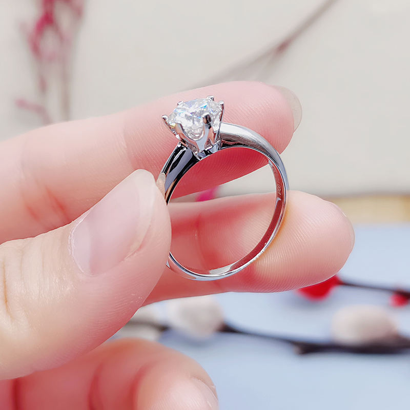 Beautiful wedding rings dropshipping 1ct 2carat 3ct sterling silver engagement diamond moissanite ring