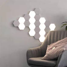 Promotional indoor white led wall lamp 12w decorative honeycomb shape wall light for home