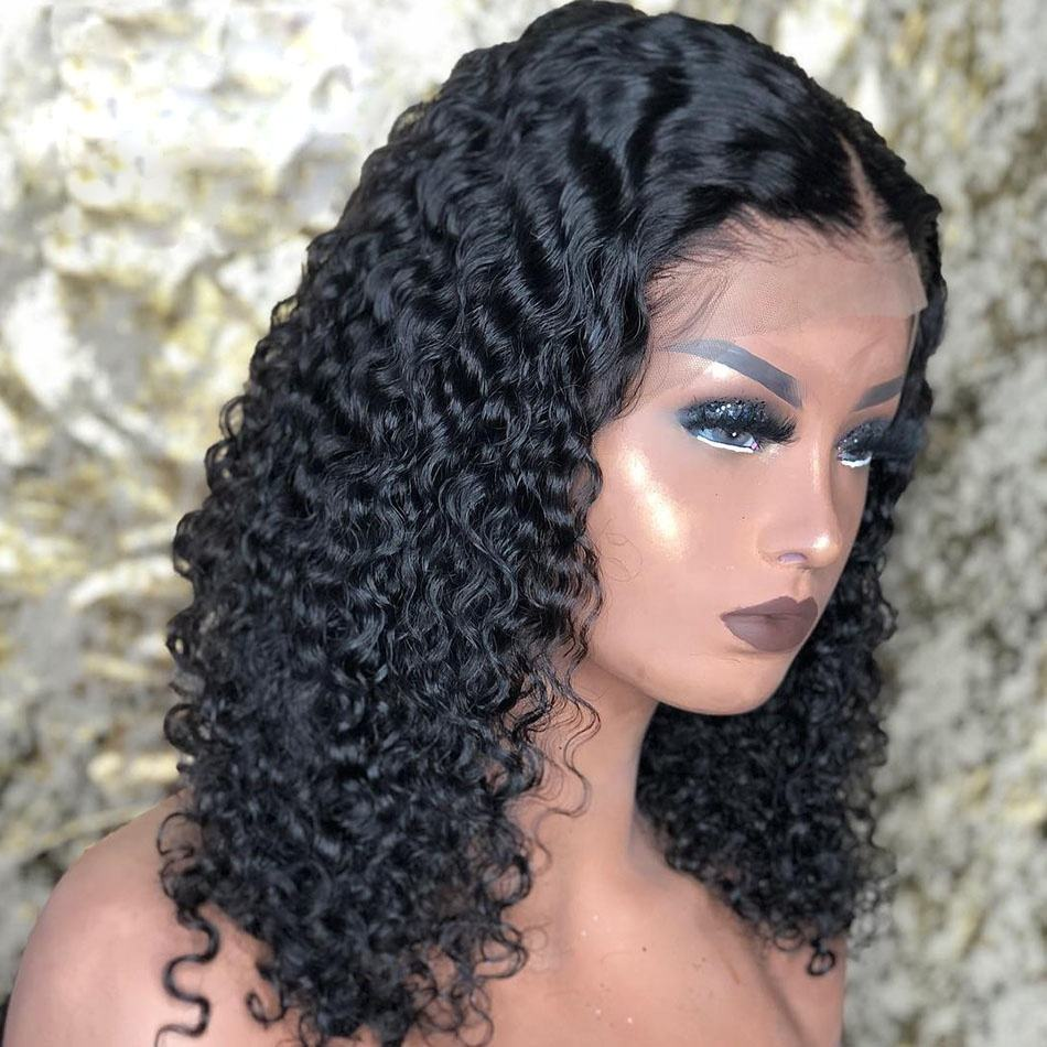 Hot Beauty 13x4 Lace Frontal Wholesale Cheap Wig Deep Curly Raw Virgin Cuticle Aligned hair Brazilian Wigs Human Hair Lace Front