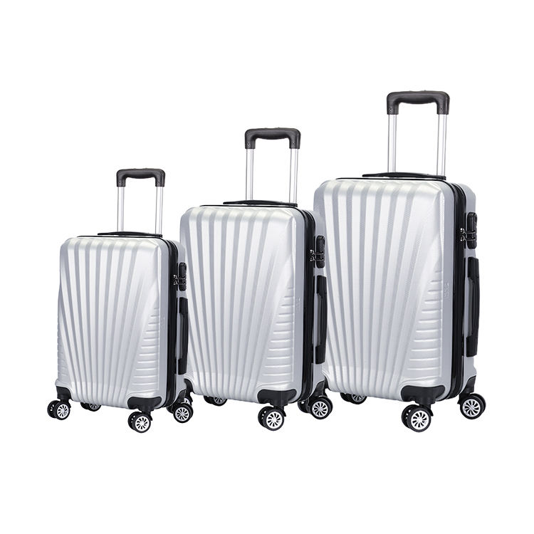 New design professional custom hand white hard case luggage suitcases sets