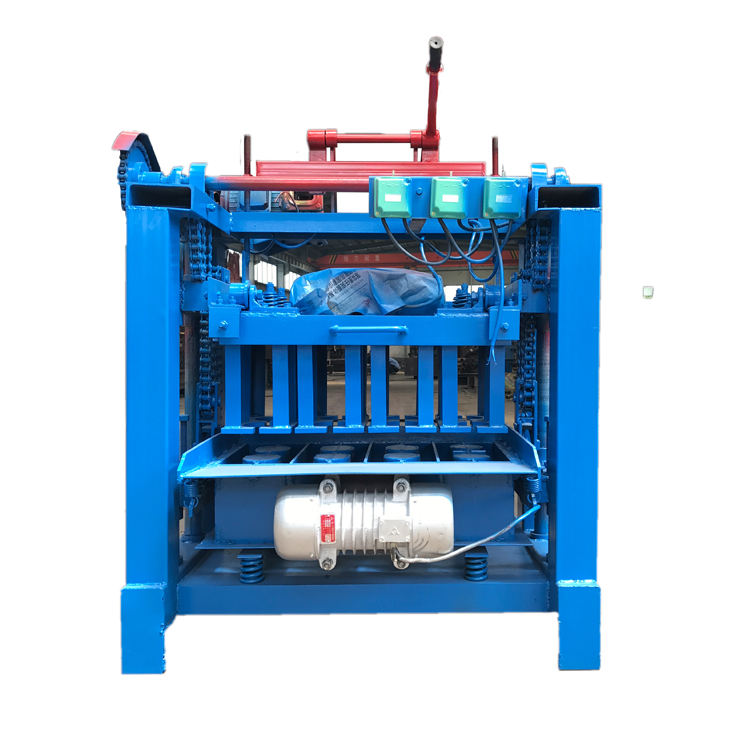 QT4-35 Manual Concrete Interlocking Paving Blocks Making Machine