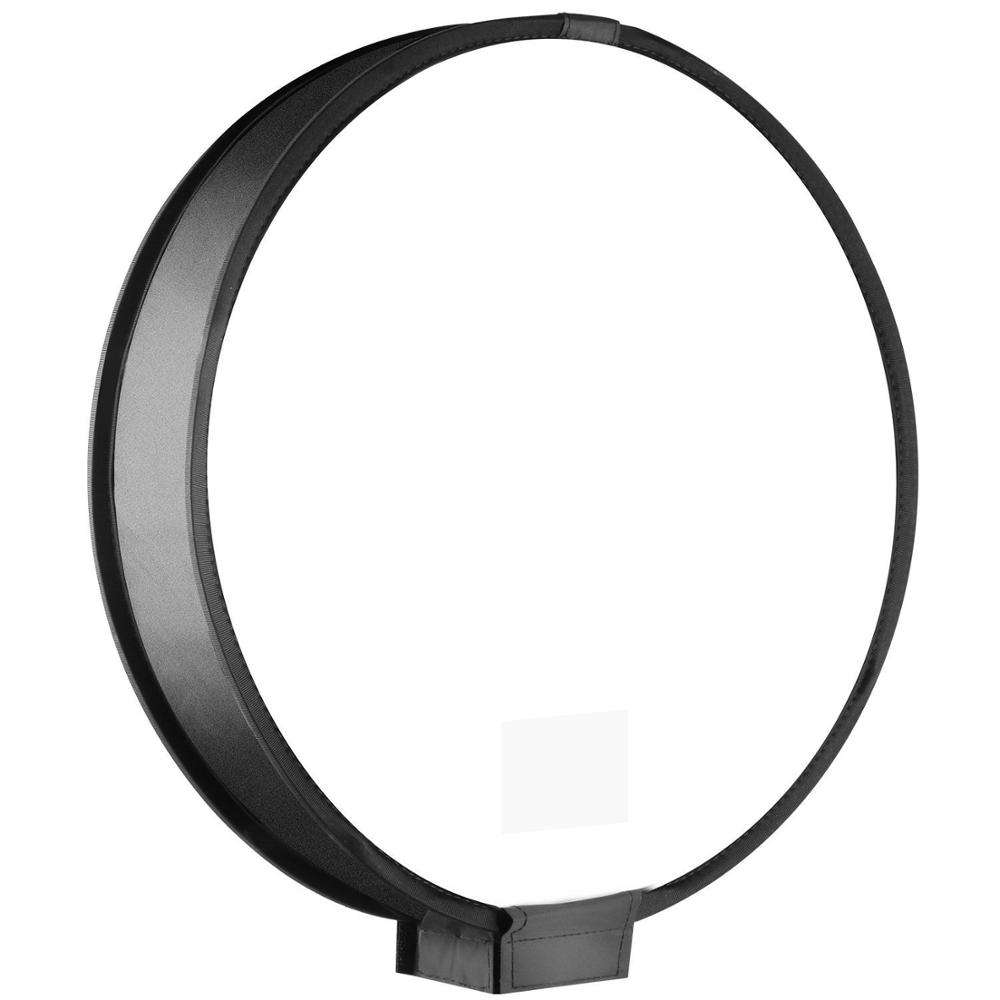 Kaliou 30cm Universal Portable Round Studio Softbox Photography Flash Diffuser Softbox For DSLR Camera Black & White