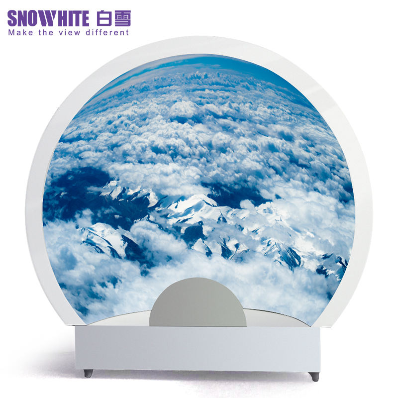 SNOWHITE 4 meter Abnormal Shape Dome Screen / 180 View Angle projektion bildschirm