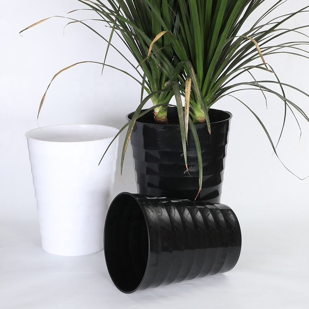 Garden supplies fashion design wholesale plastic flower pot for indoor and outdoor use