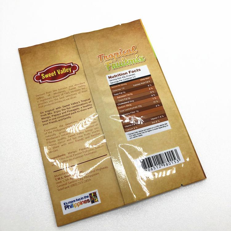 Papier d'aluminium joint arrière d'emballage de thé
