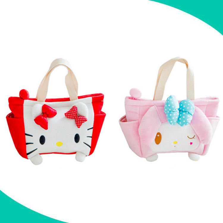 high quality custom japan sanrio characters hand bags ziplock plush bag