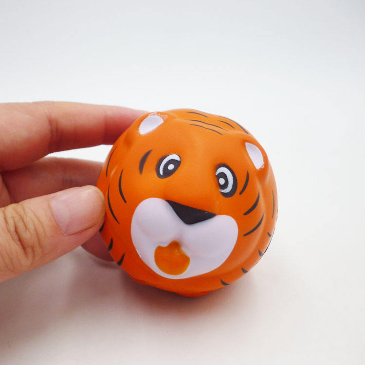 <span class=keywords><strong>Personnalisé</strong></span> Promotionnel D'UNITÉ CENTRALE, Boule mignon tigre forme balle anti-stress jouets pour enfant
