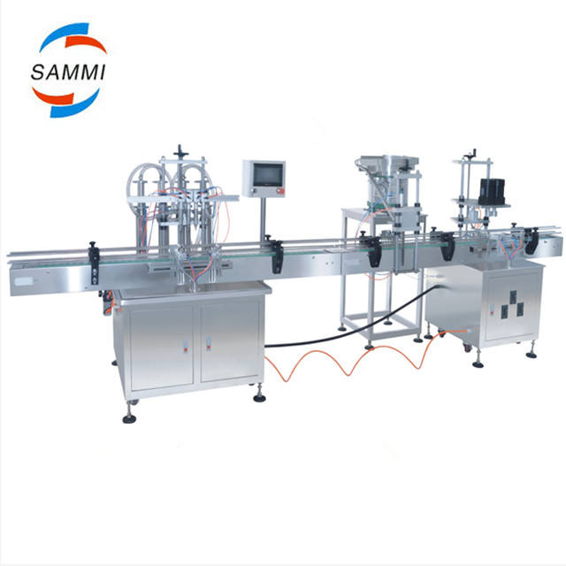 Factory price automatic bottle filling capping and labeling machine