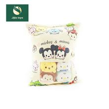 Pudding snack shape animal plush pillow stuffed with small toys and blanket for home office car outdoor