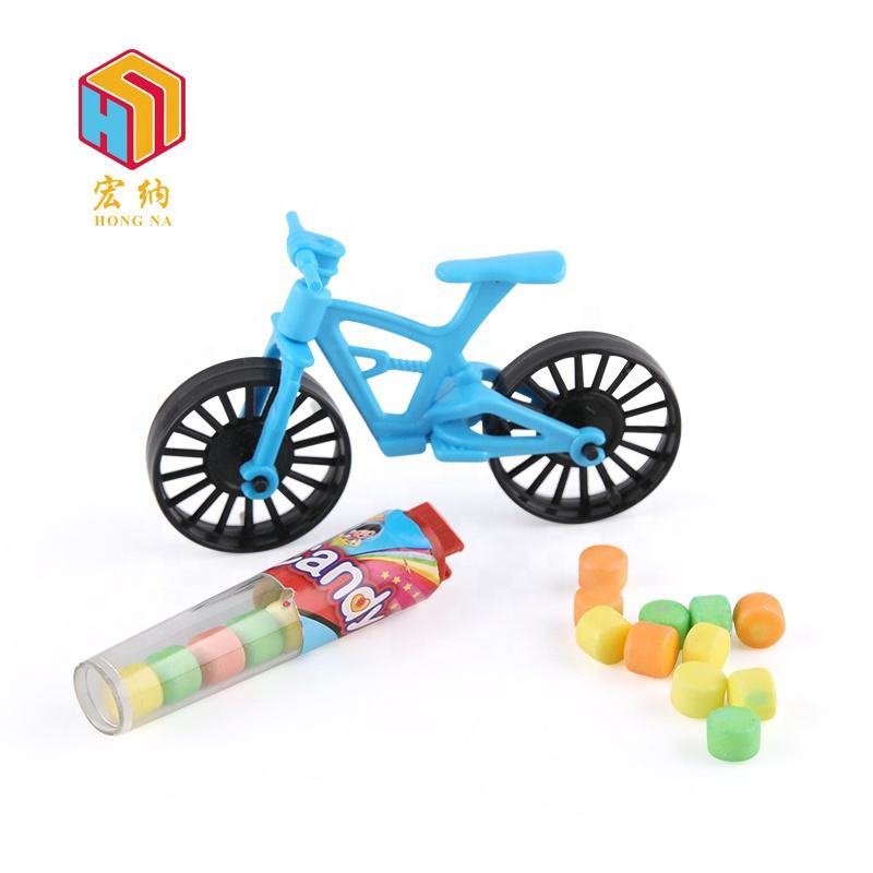 rotated wheels bicycle bike toy candy with 2g fruit flavor press candy