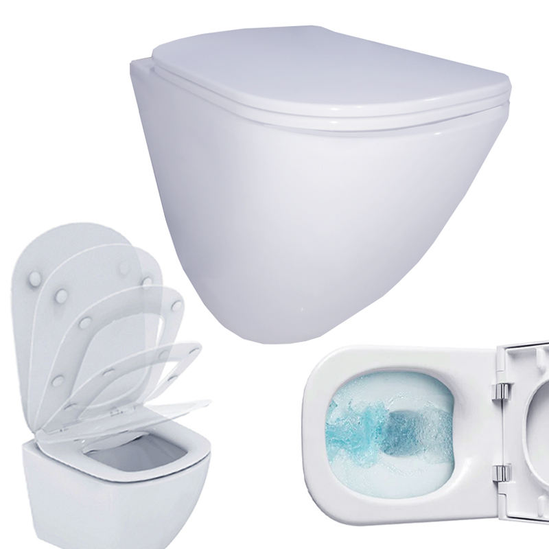 bathroom furniture modern sanitary square toilet wood marble shower room cushion toilets nursing home hospital toilteries