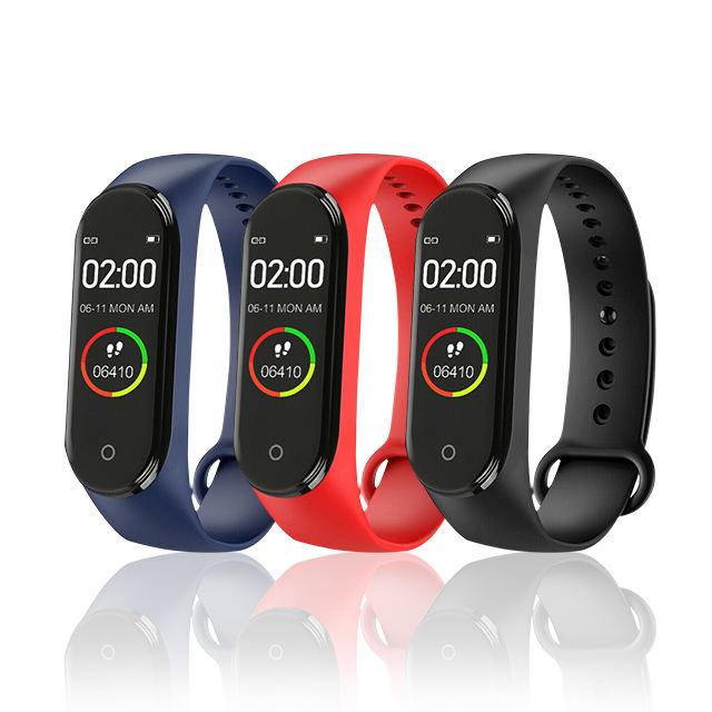 Yeni ürün su geçirmez nabı<span class=keywords><strong>z</strong></span> monitörü uyku akıllı saat bilezik Band Smartwatch M4