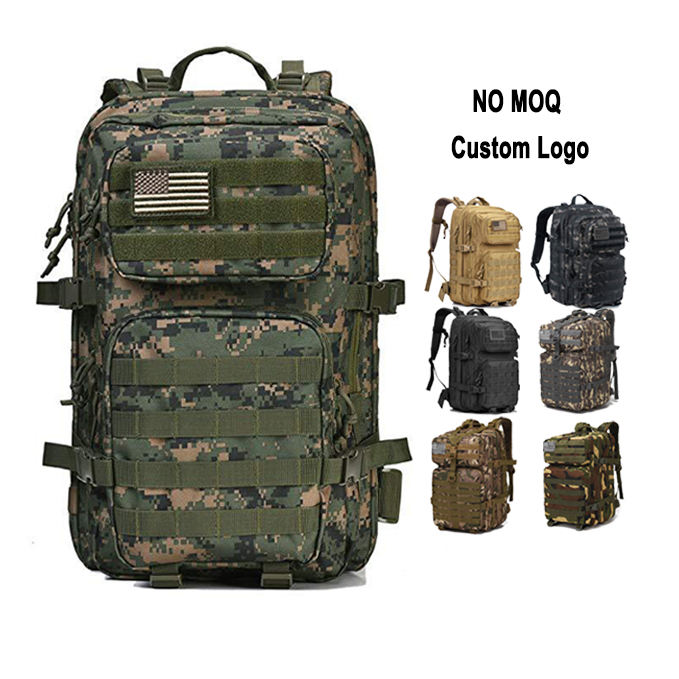 45L Large-capacity Outdoor Molle Hiking Hunting Camouflage Mountaineering Army Military Tactical Backpack