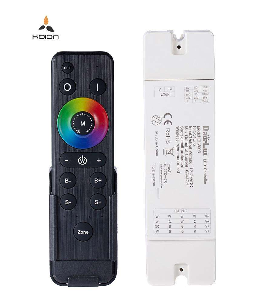 2.4g rf wireless led strip light touch remote control mini dimmer rgb rgbw led controller