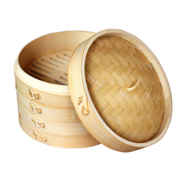 Chinese cheap handmade custom bamboo steamer large bamboo steamer basket food steamers for kitchen