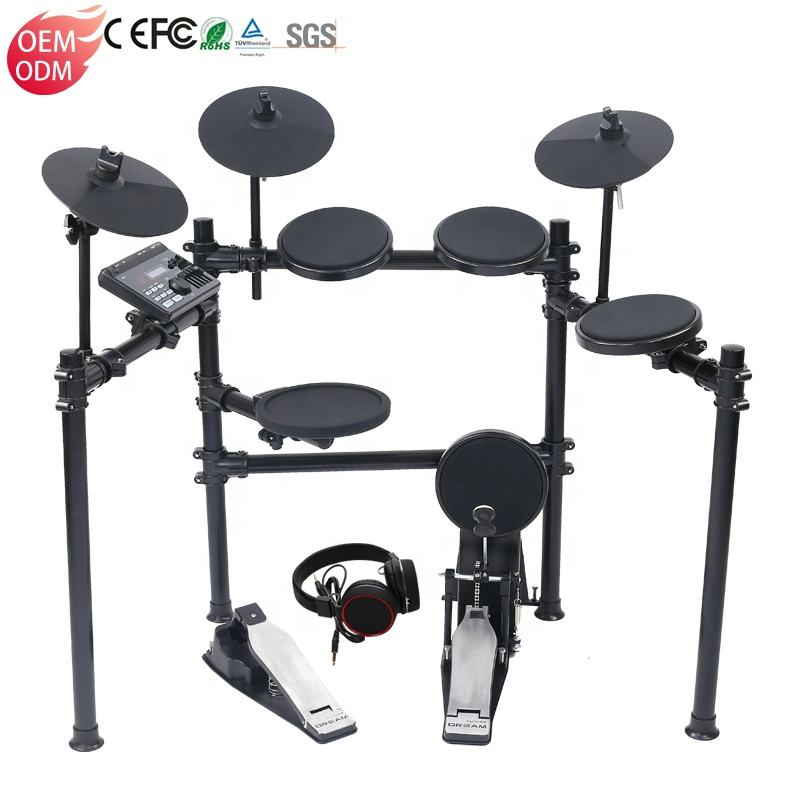 Electric Drum Double Pedal Drum Electric Electronic Drum Set Professional Drums Percussion Drumset