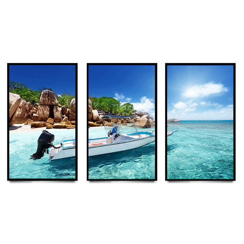 Wall Art Custom Landschap Hoge Resolutie Foto 3 Panel Katoen Canvas Print