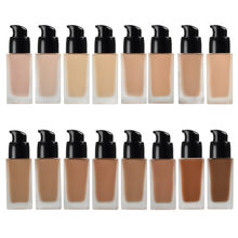16 Color Full Coverage Private Label Waterproof Natural Makeup Liquid Foundation