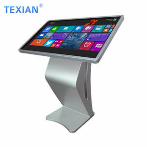 Shopping mall advertising touch screen kiosk 65 inch touch screen table white interactive multi touch table