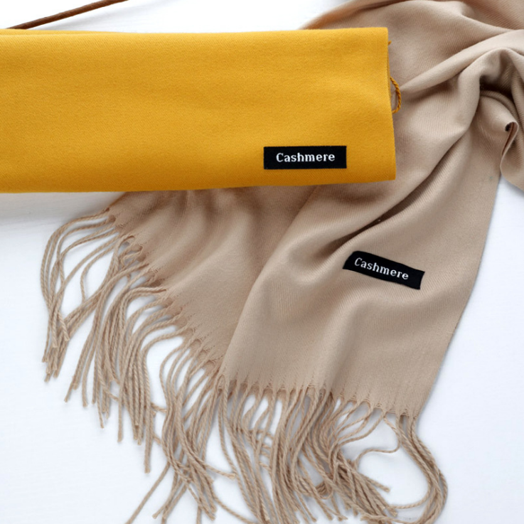 New Design Soft Wool Cashmere Pashmina Scarf Shawl Nepal Wraps Women Winter Loose Pure Color Head Scarves