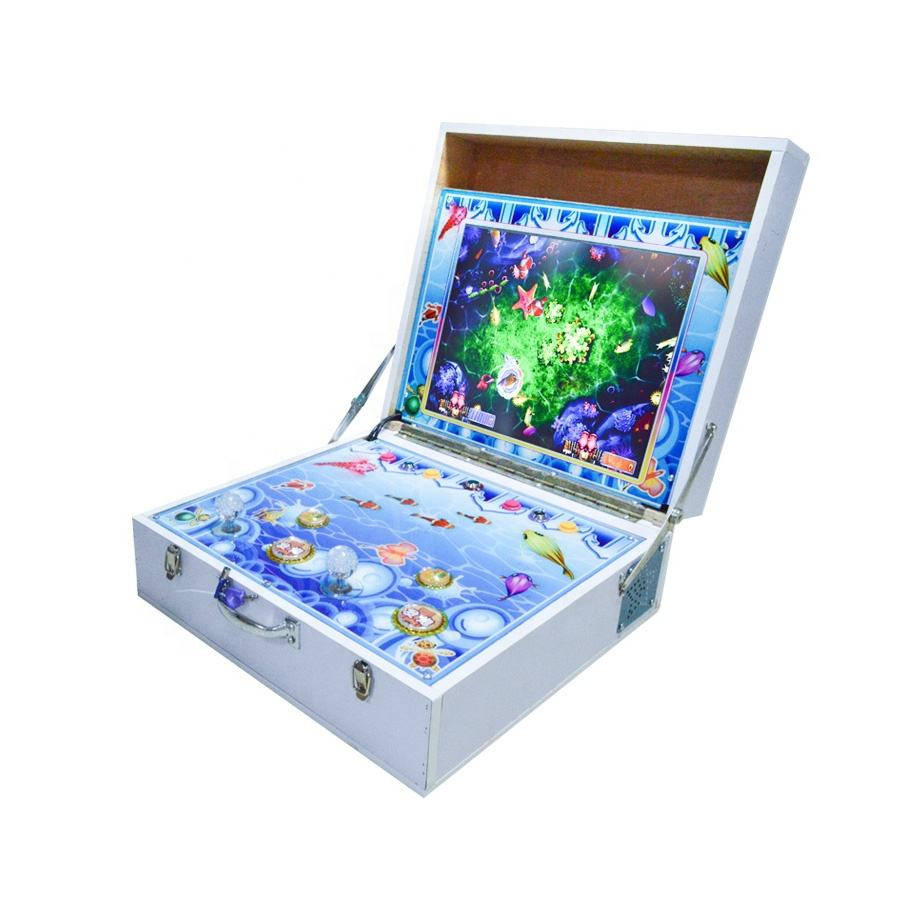 Earn Money 2 Player Mini Arcade Fishing Game Machine Mario Slot Game Portable Game Machine for Sale