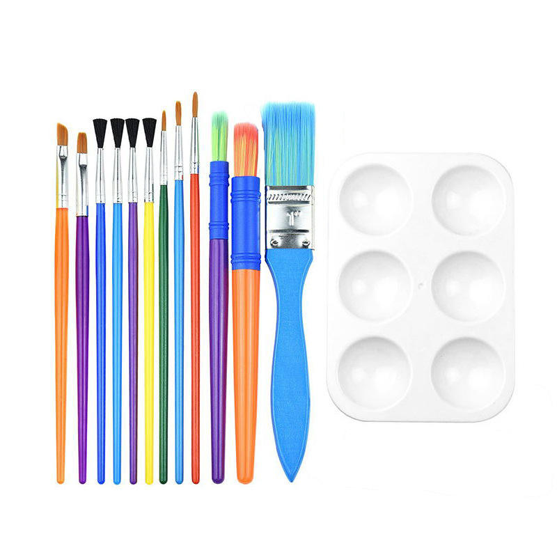 13pcs Painting Kits For Kids Early Learning Kids Paint Set Sponge Painting Foam Brushes Art Craft Drawing Tools For Kids Toddler