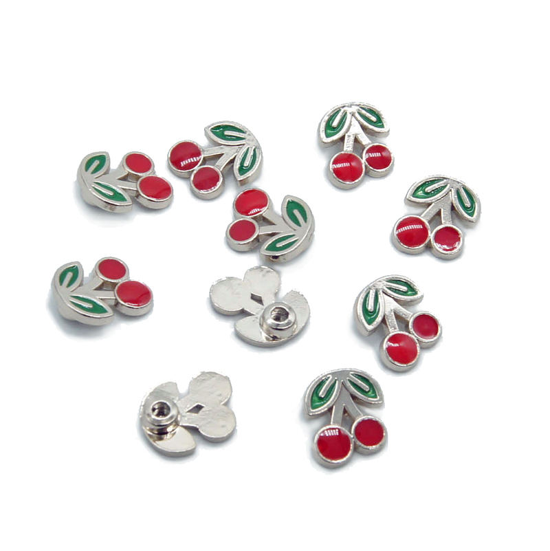Custom Shape Fashion Cherry Button Metal Rivet for Jeans