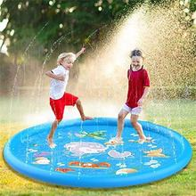 Sprinkler Pad and Splash Play Mat Outdoor Party Inflatable Water Park Pool Toys Kids Fun