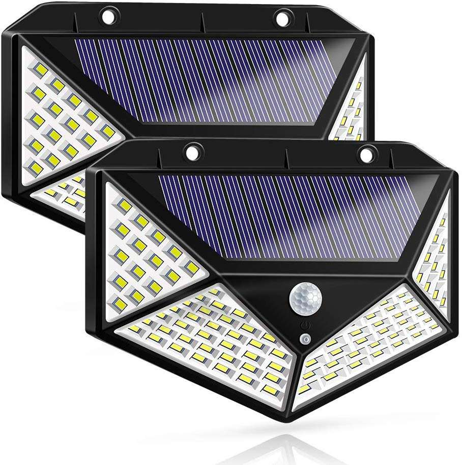 High Brightness Waterproof 100LED Solar Sensor Wall Light For Outdoor Lighting