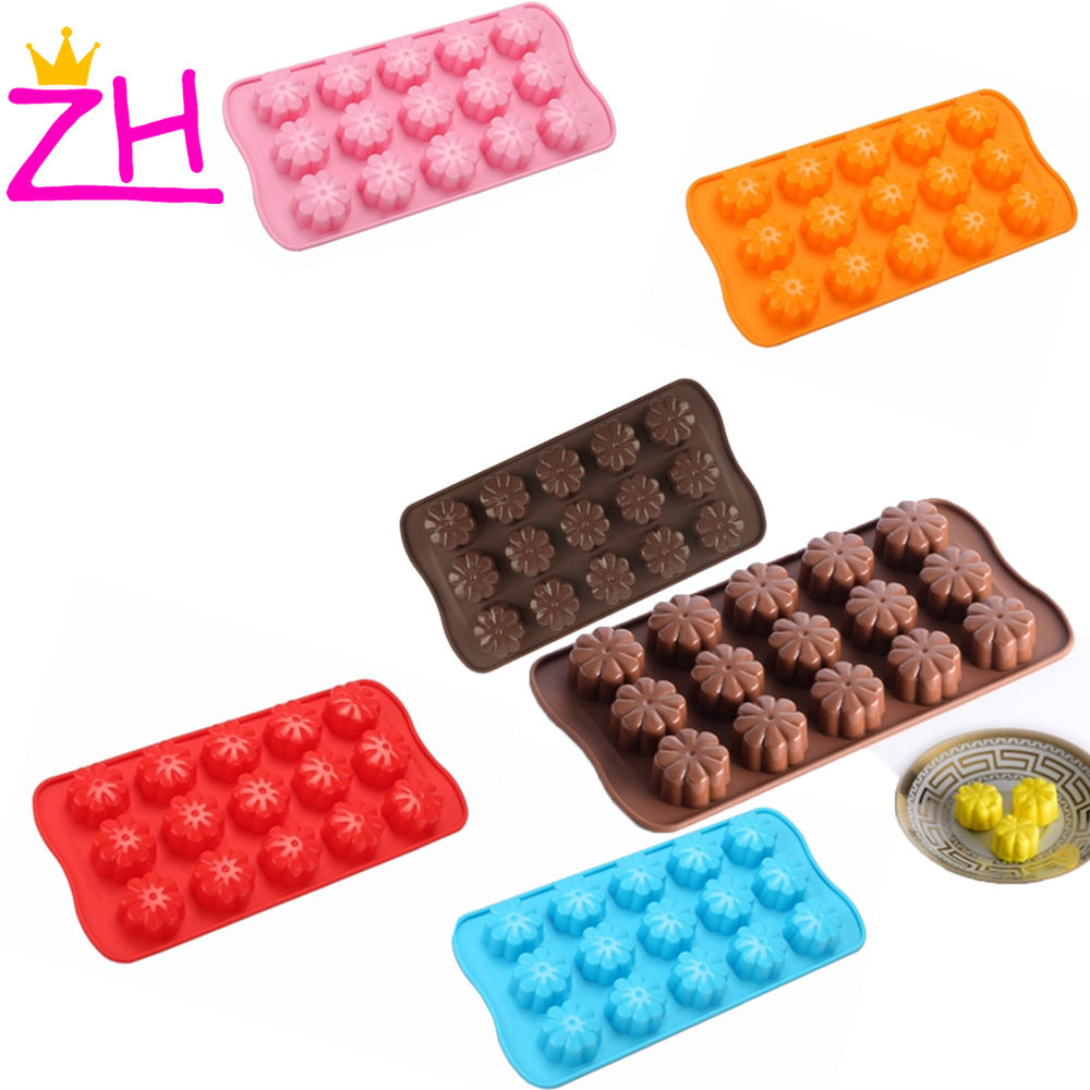 Food Grade Bloem Shaped Silicone Mold Fondant Chocolade Cookie Muffin Mould Cake Zeep Mallen Kerst Bakken Decoratie Tool