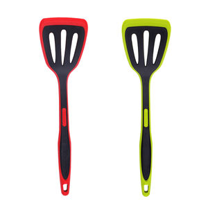 Wholesale BPA Free Kitchen Utensil Silicone Non-stick Nylon Slotted Turner Spatula