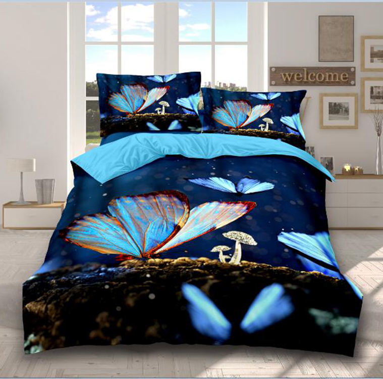 customized size printing silk sheet duvet cover 19mm/22mm/25mm luxury real silk bedding set