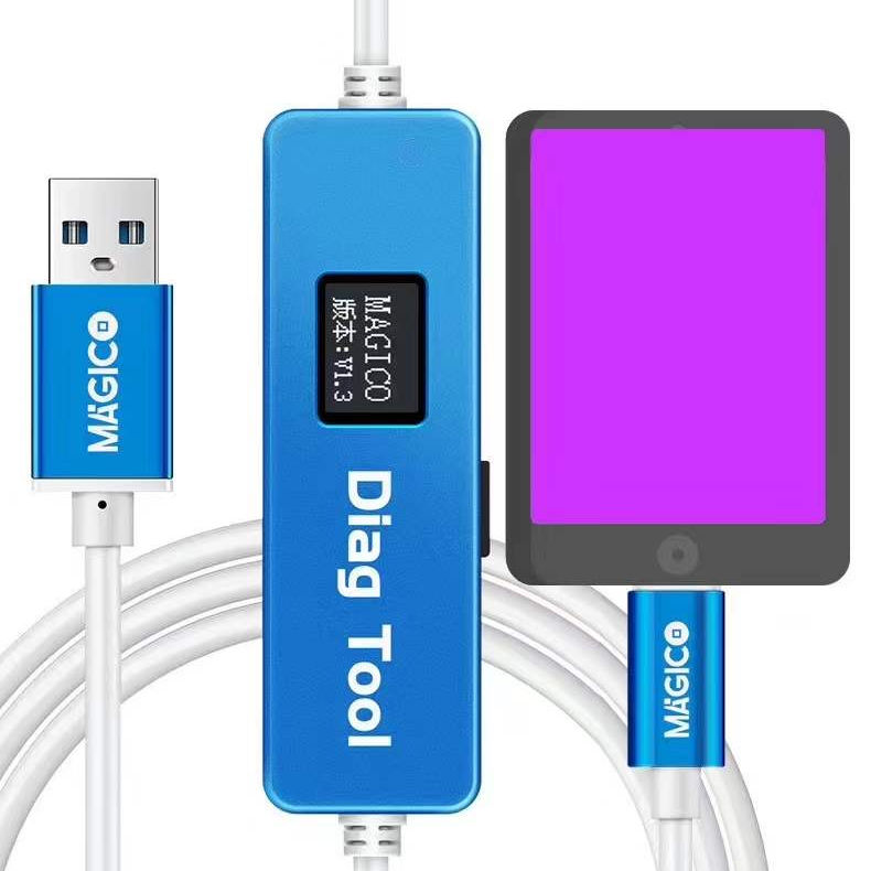 Magico Diag DFU Tool For phone&pad Unpack WiFi Data Repair Hard Disk Chip Enter Purple Screen Mode Without NAND Removal