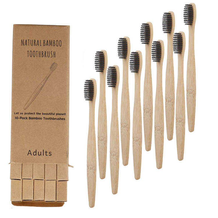 Custom Logo Best Quality Manufacturer 100% Organic Biodegradable Adult Kids Bamboo Charcoal Bristles Bamboo Toothbrush With Case