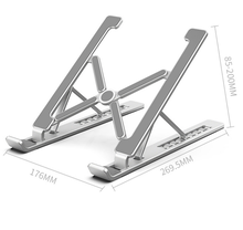 Cooling Aluminum Alloy Computer Cooling Bracket Portable 17 Inch Laptop Stand Foldable Notebook Stand Holder Adjustable