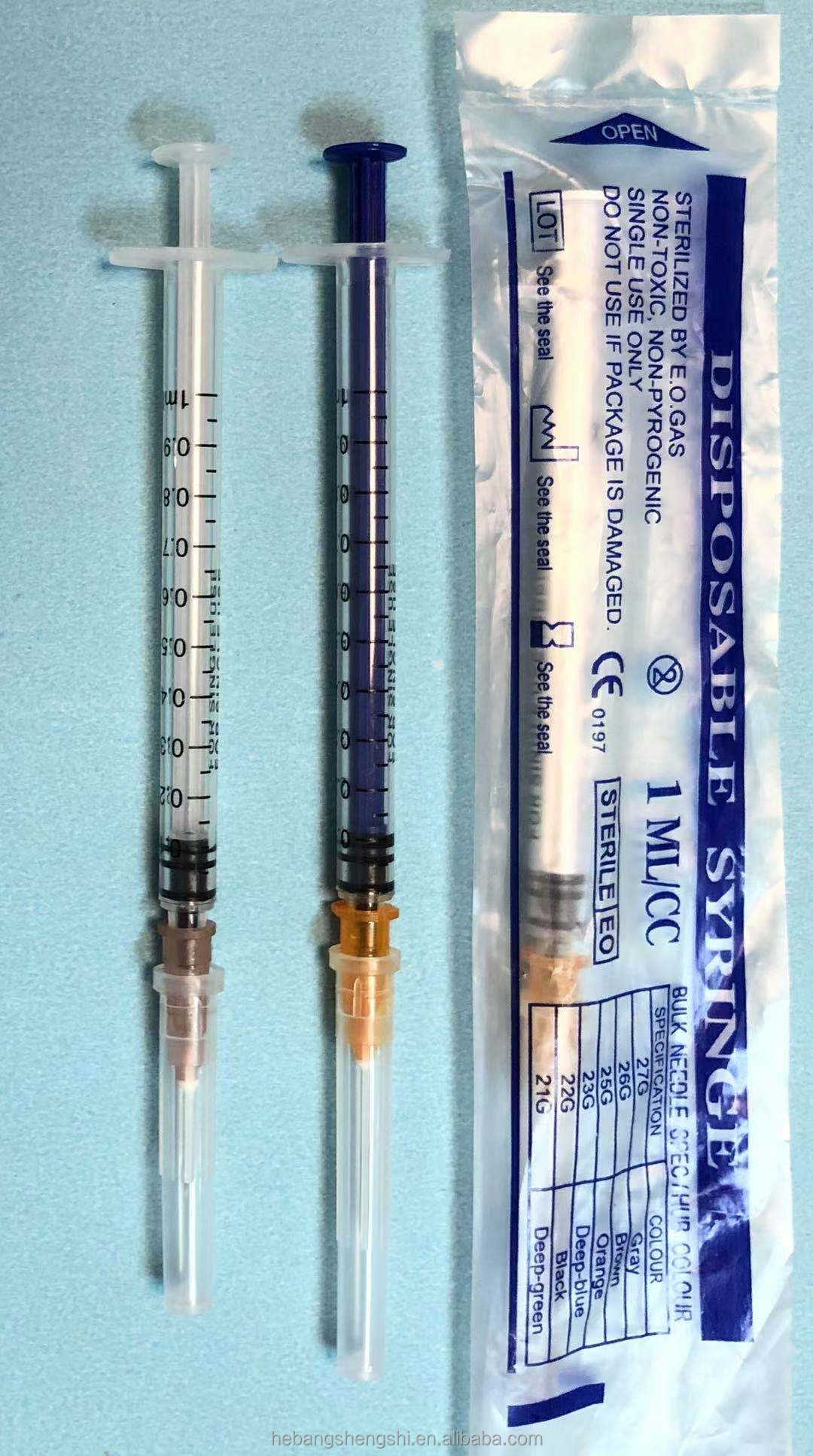 Luer Lock Syringe Luer Slip 1ml The Factory Inventory Factory Price