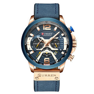 CURREN 8329 Men Quartz Tactical Watches Sport Casual Top Brand Luxury Military Leather Fashion Chronograph Wristwatch