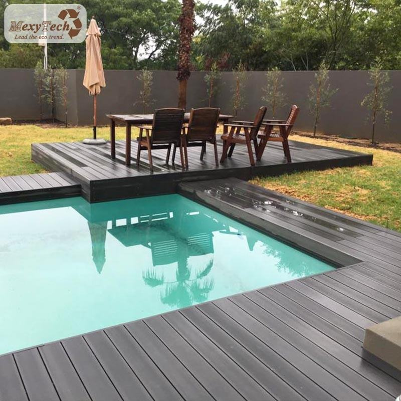 Exterior waterproof wpc wood plastic composite laminate flooring