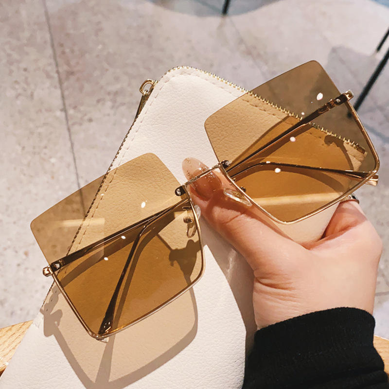 DL Glasses DLL00170 2021 Fashion Designer sunglasses Square Trendy Oversized vintage rimless Sun Glasses lentes de sol