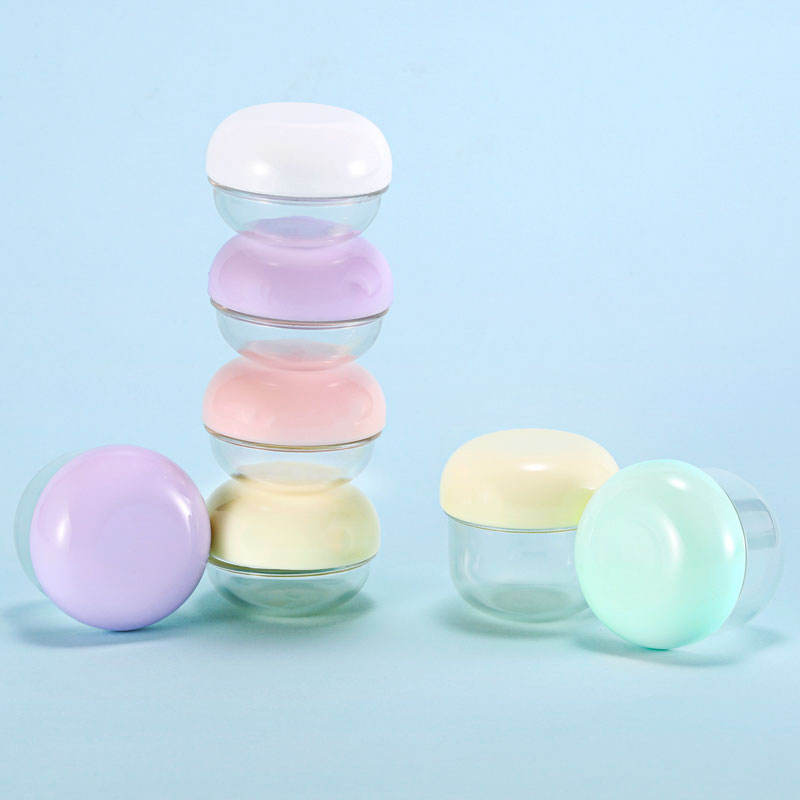 Travel Size 20ML Plastic Cosmetic Jar Pill Box Cream Storage Case Lotion Container