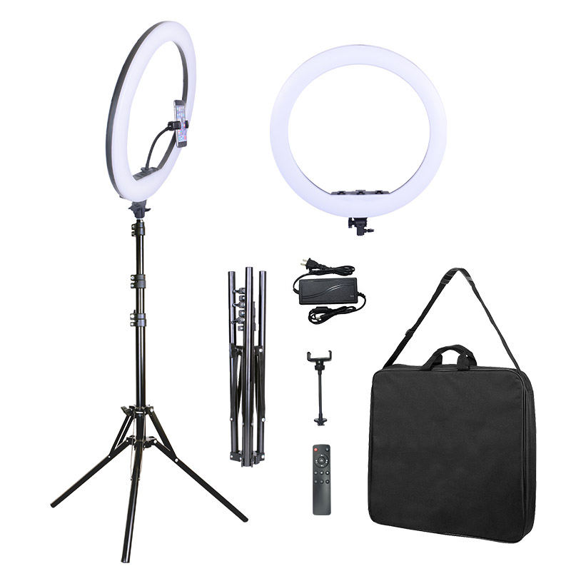 21inch LED Ring Light With Phone Holder For Makeup Live Streaming Fill Light Big Size With 2m Folding Tripod