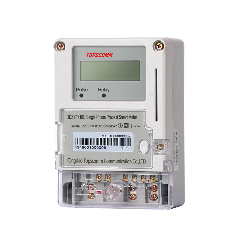 TOPSCOMM DDZY1710C Single Phase Prepaid Smart Electricity Meter plc energy meter