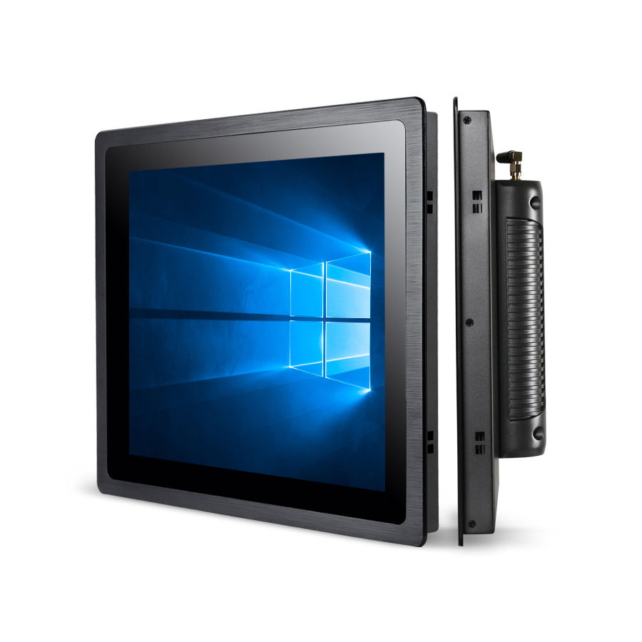 open frame all in one pc with aluminum alloy case capacitive touch